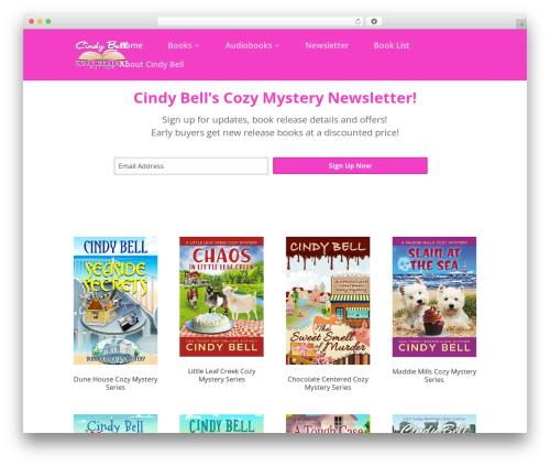 Divi Child WordPress template - cindybellbooks.com