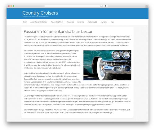 Icy top WordPress theme - countrycruisers.se