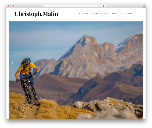 Shutter premium WordPress theme - christoph-malin.com