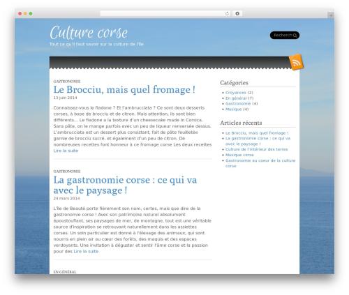 Snowblind top WordPress theme - culture-corse.com