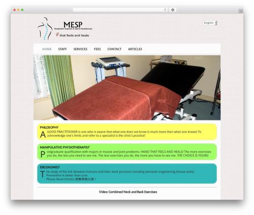Theme WordPress Aggregate - chrissophysio.com