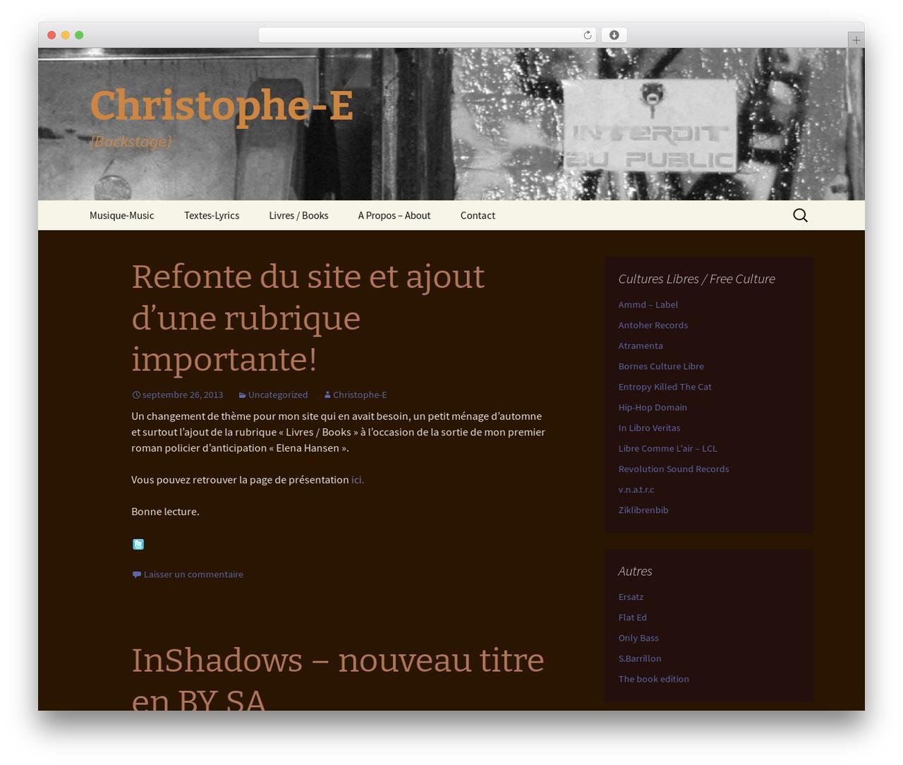 Theme WordPress r2d2 - christophe-e.net
