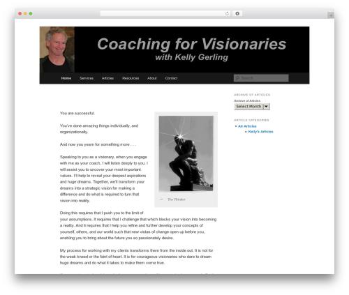 Free WordPress Twenty Eleven Theme Extensions plugin - coachingforvisionaries.com