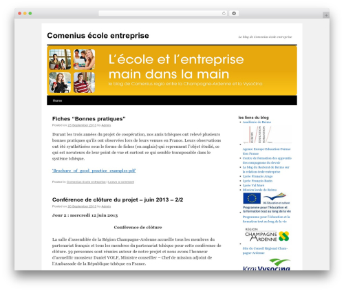 Twenty Ten free WordPress theme - comenius-ecole-entreprise.eu