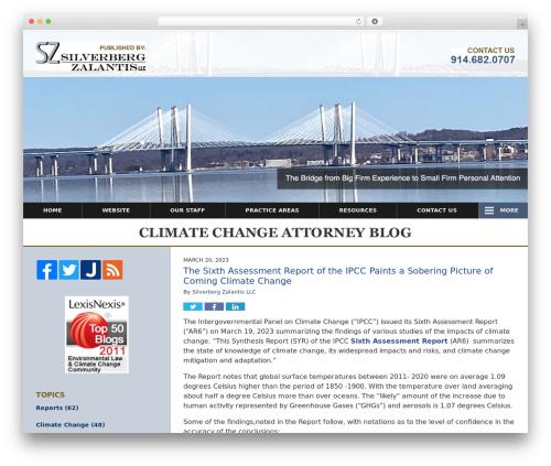 Willow-Responsive WordPress theme - climatechangeattorney.com