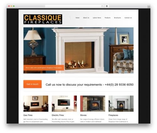WordPress theme Class - classiquefireplaces.com