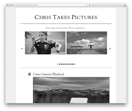 WordPress theme Elemin - christakespictures.com