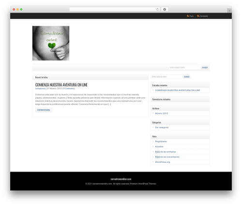 WordPress theme WP-Clear - comadronaonline.es