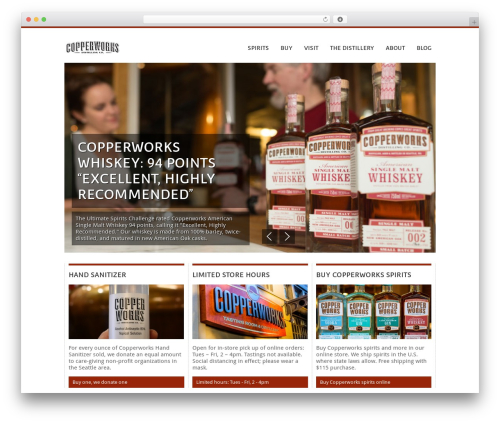 BBQ top WordPress theme - copperworksdistilling.com