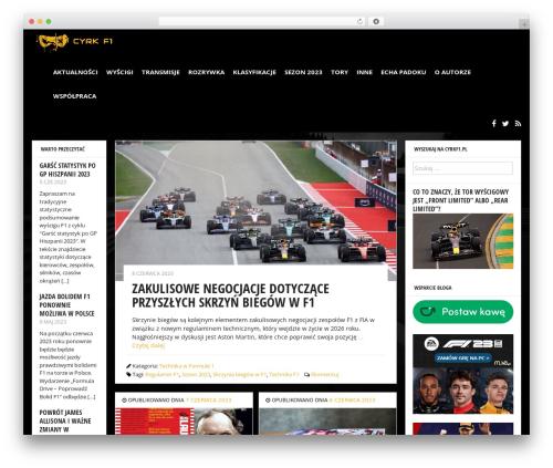 bloggr top WordPress theme - cyrkf1.pl