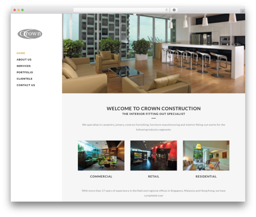 Bridge premium WordPress theme - crownconstruction.com.sg
