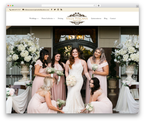 Child Theme for Divi WordPress wedding theme - villatuscanaevents.com
