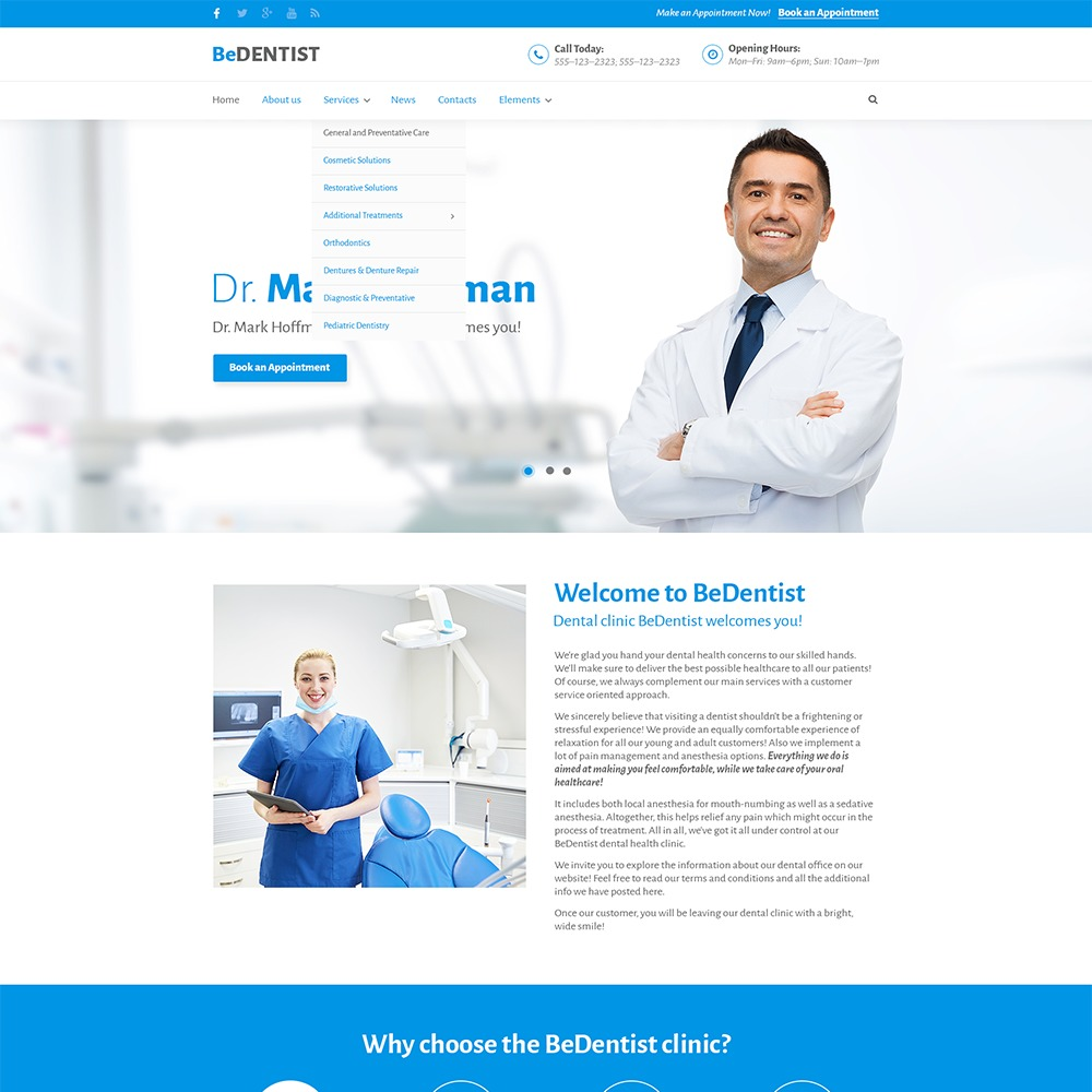 Dentist Clinic Child Theme WordPress real estate