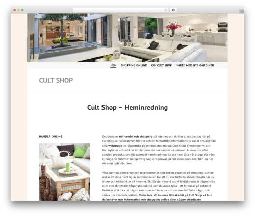Edin WordPress ecommerce theme - cultshop.se