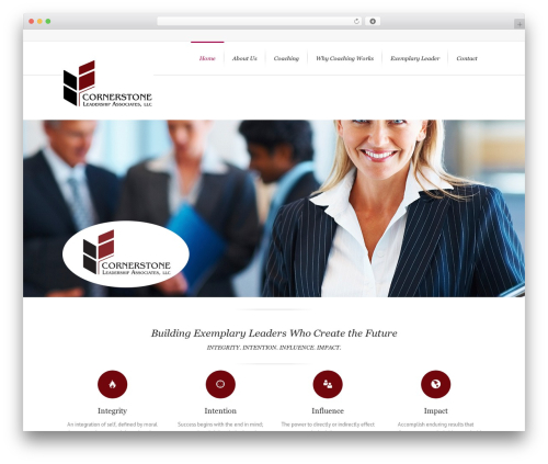 Lounge WordPress theme - cornerstoneleader.com