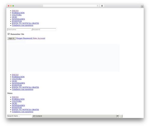 NewsZone best WordPress theme - copec.es