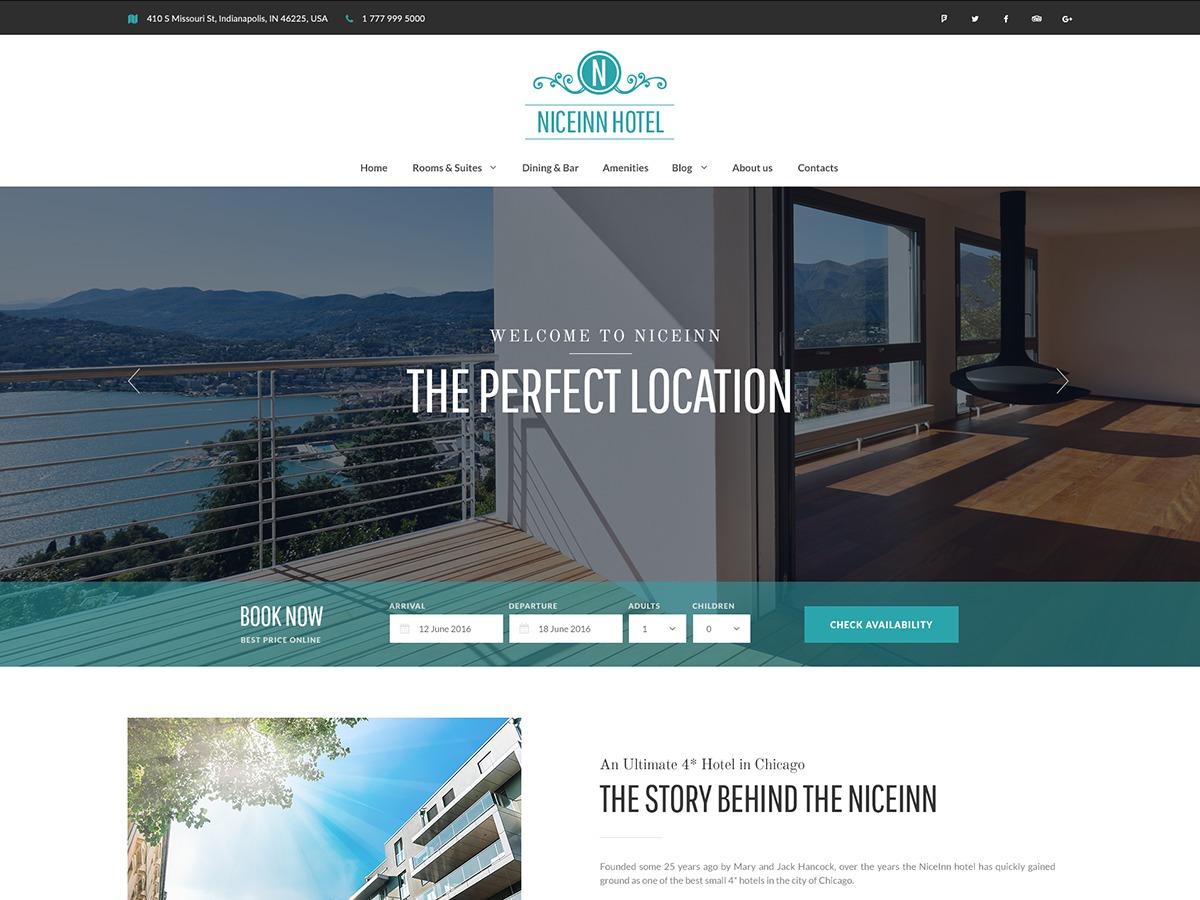 NiceInn best hotel WordPress theme