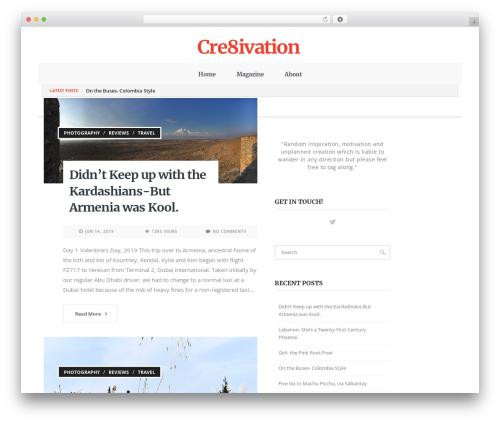 Papillon WordPress template - cre8ivation.com