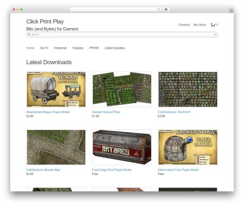 Shop Front WordPress shopping theme - clickprintplay.com