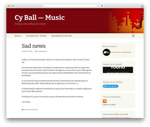 Twenty Thirteen best free WordPress theme - cyrilfb.com
