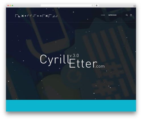 WordPress vcparticlesbackground plugin - cyrill-etter.com