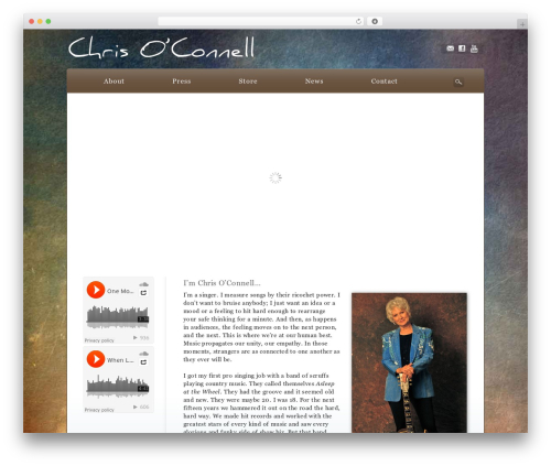 WP theme Awake - chrisoconnellsings.com