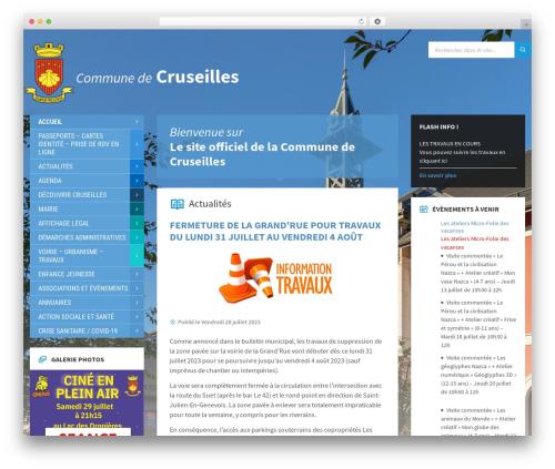 Best WordPress template TownPress - cruseilles.fr