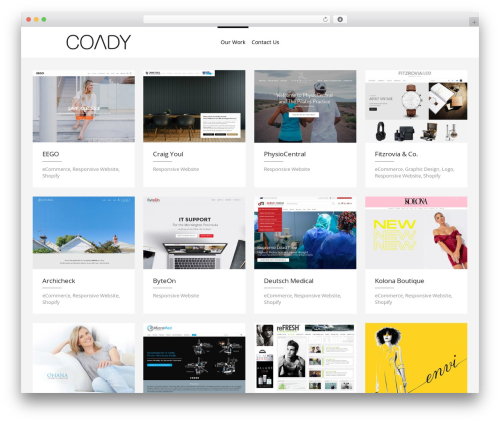 Eden WordPress template for business - coady.co