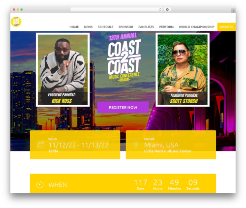 Tyler best WordPress theme - coast2coastconvention.com