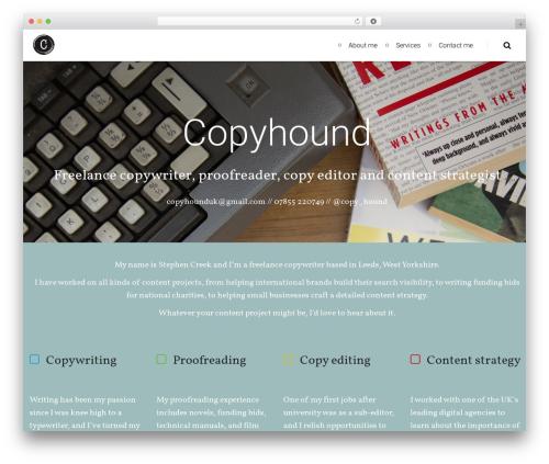 WordPress template NOAH - copyhound.co.uk