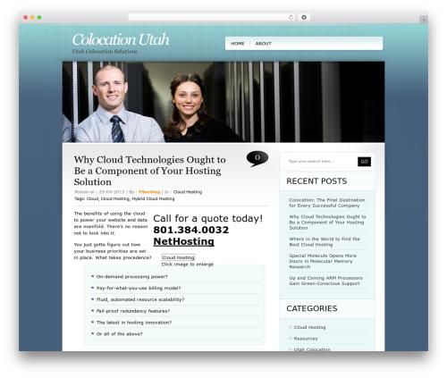 WordPress website template TweetMeBlue - colocation-utah.com