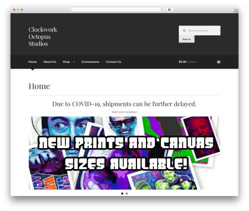 Boutique free WordPress theme - clockworkoctopus.com