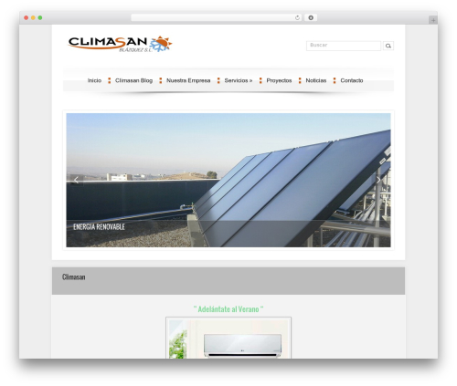 DroidPress best free WordPress theme - climasan.eu