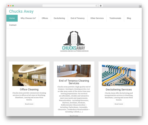 Radiate free website theme - chucksaway.co.uk