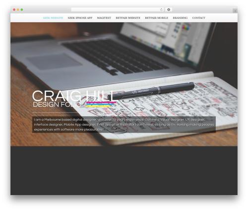 Scroller Theme WordPress portfolio template - craighill.com.au