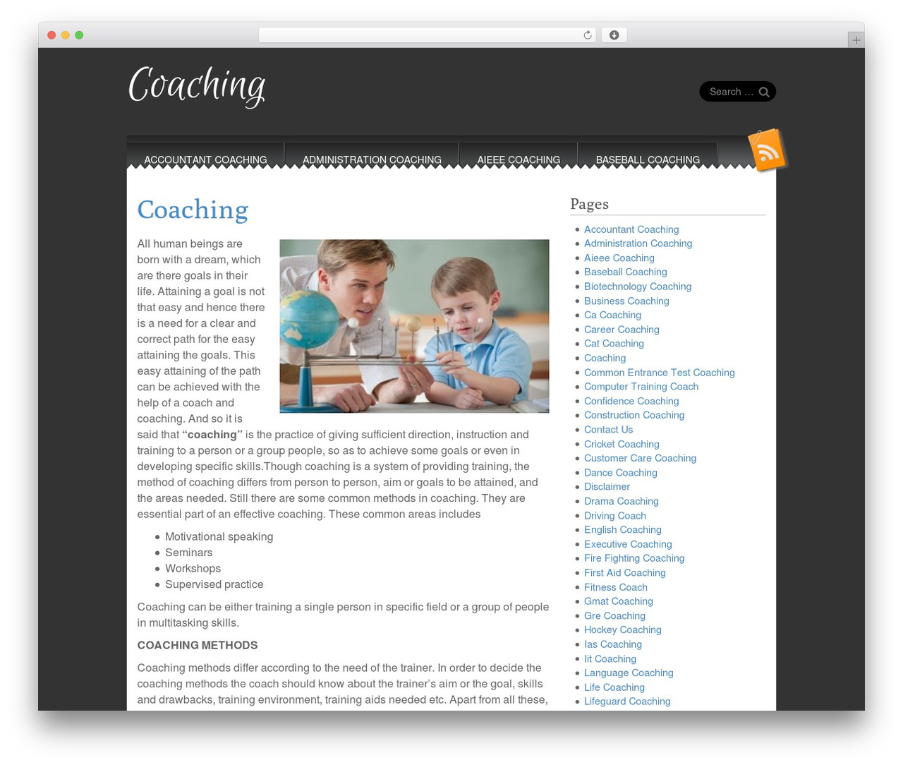 Snowblind free WordPress theme - coaching.in