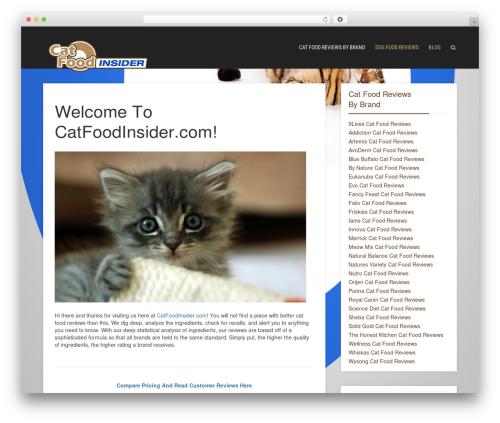 Throne WP template - catfoodinsider.com