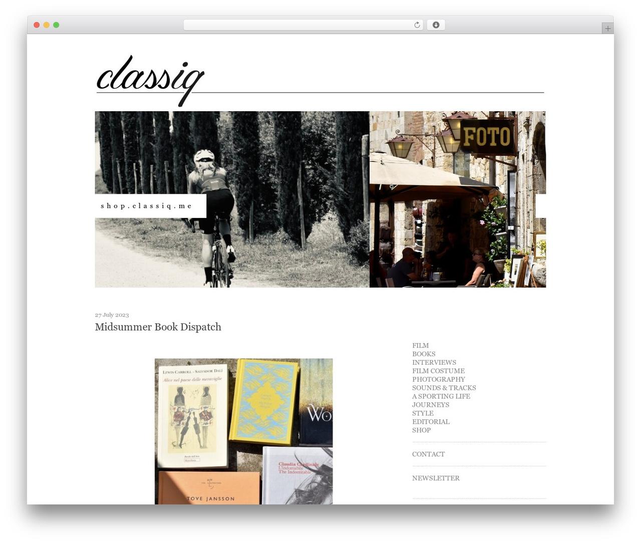 Twenty Ten WordPress theme - classiq.me