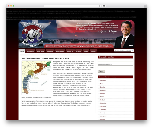 WordPress template WP-Chatter - coastalbendrepublicans.com