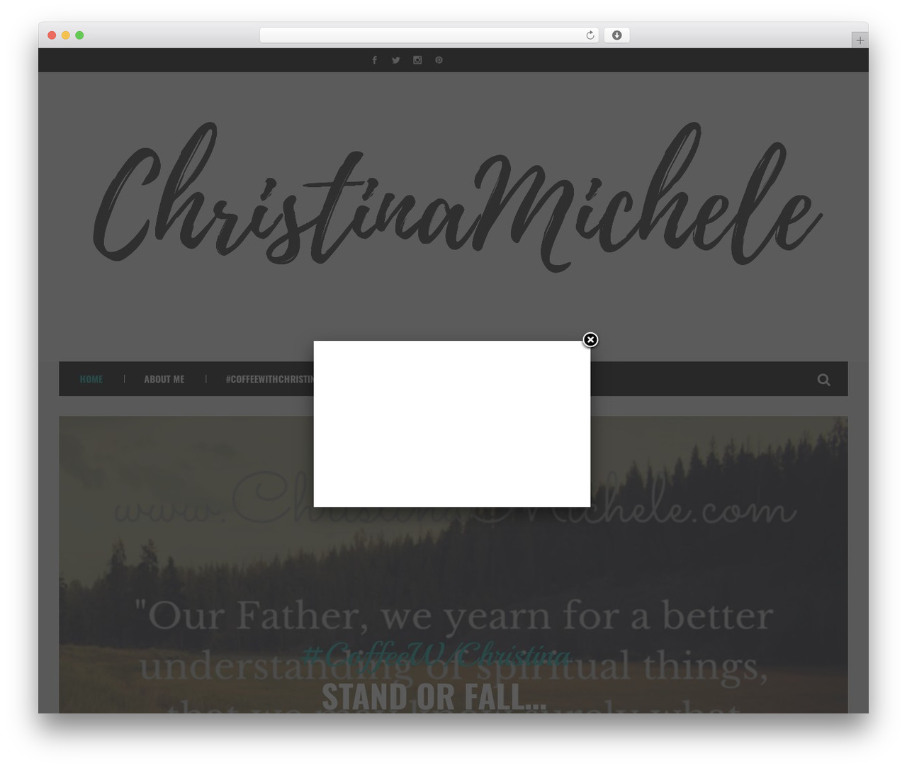 BestBlog WordPress blog template - christinamichele.com