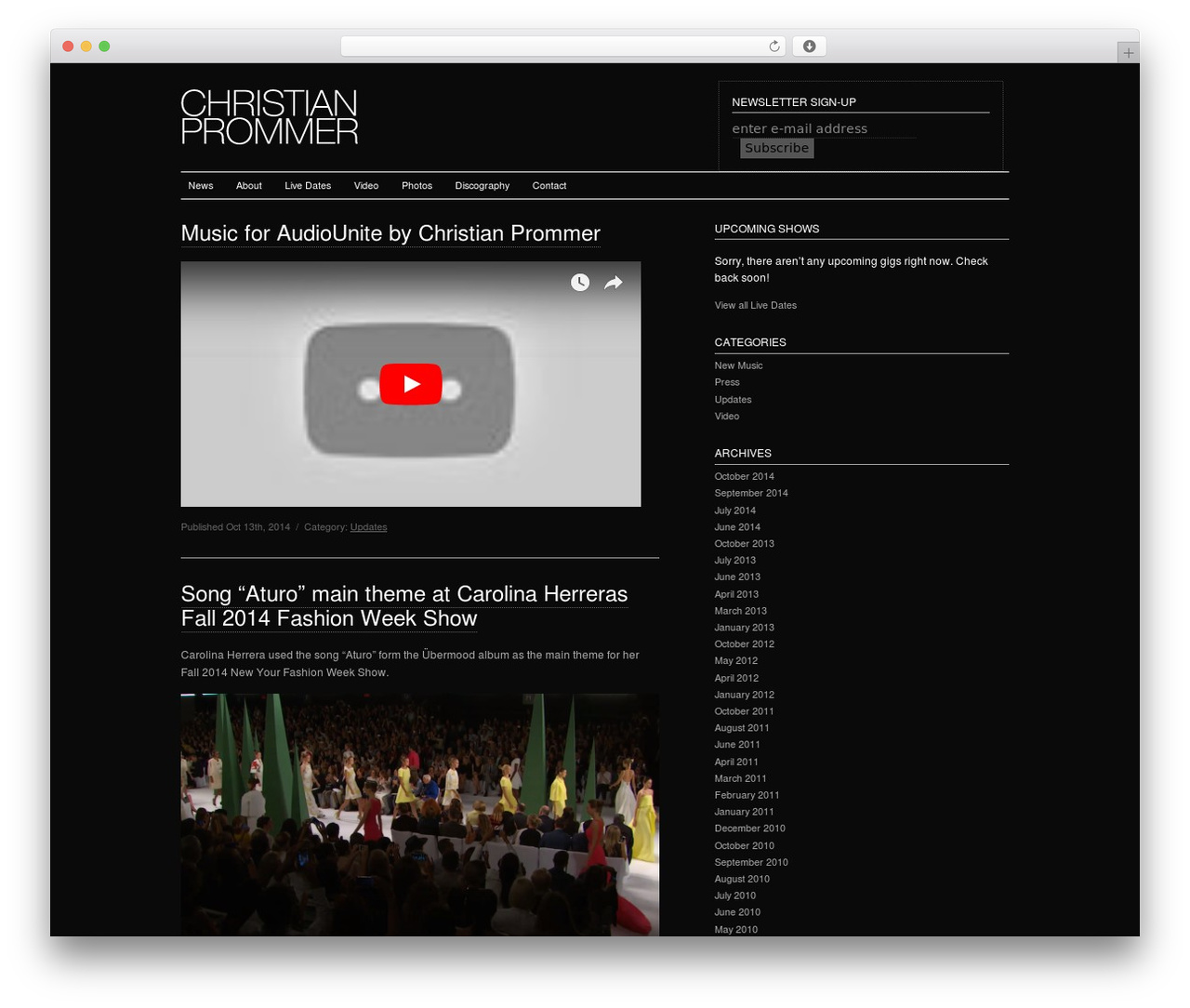CP WP theme - christianprommer.com