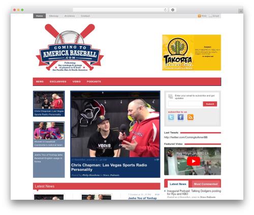 Magazine WordPress magazine theme - comingtoamericabaseball.com