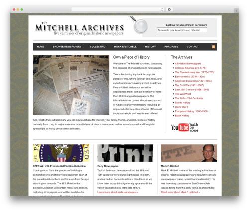 Revolution newspaper WordPress theme - collectiblenewspapers.com