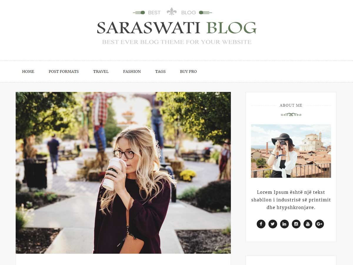 Saraswati Blog WordPress blog template