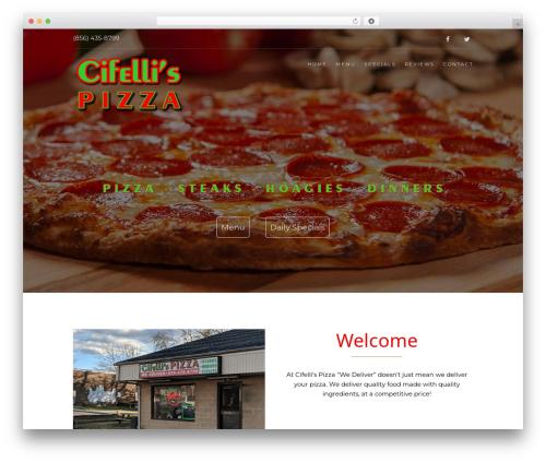 WordPress template Food Express - cifellis.com