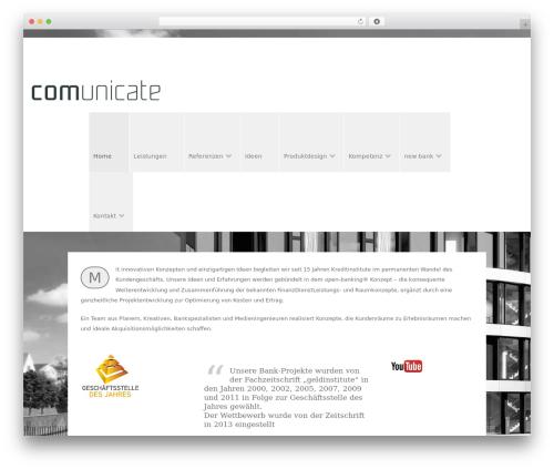 WordPress theme Arch - comunicate.de