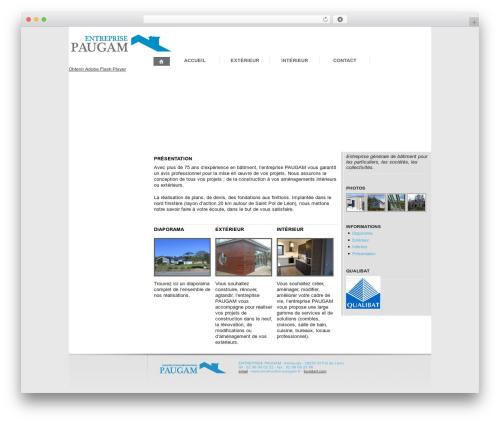 WordPress theme Twenty Ten - construction-paugam.com