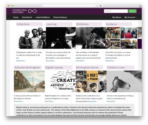 Compose WP WordPress theme - connectinghistories.org.uk