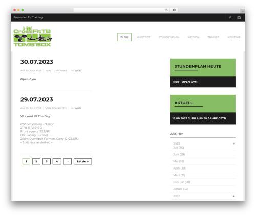 Fitness gym WordPress theme - crossfittb.ch