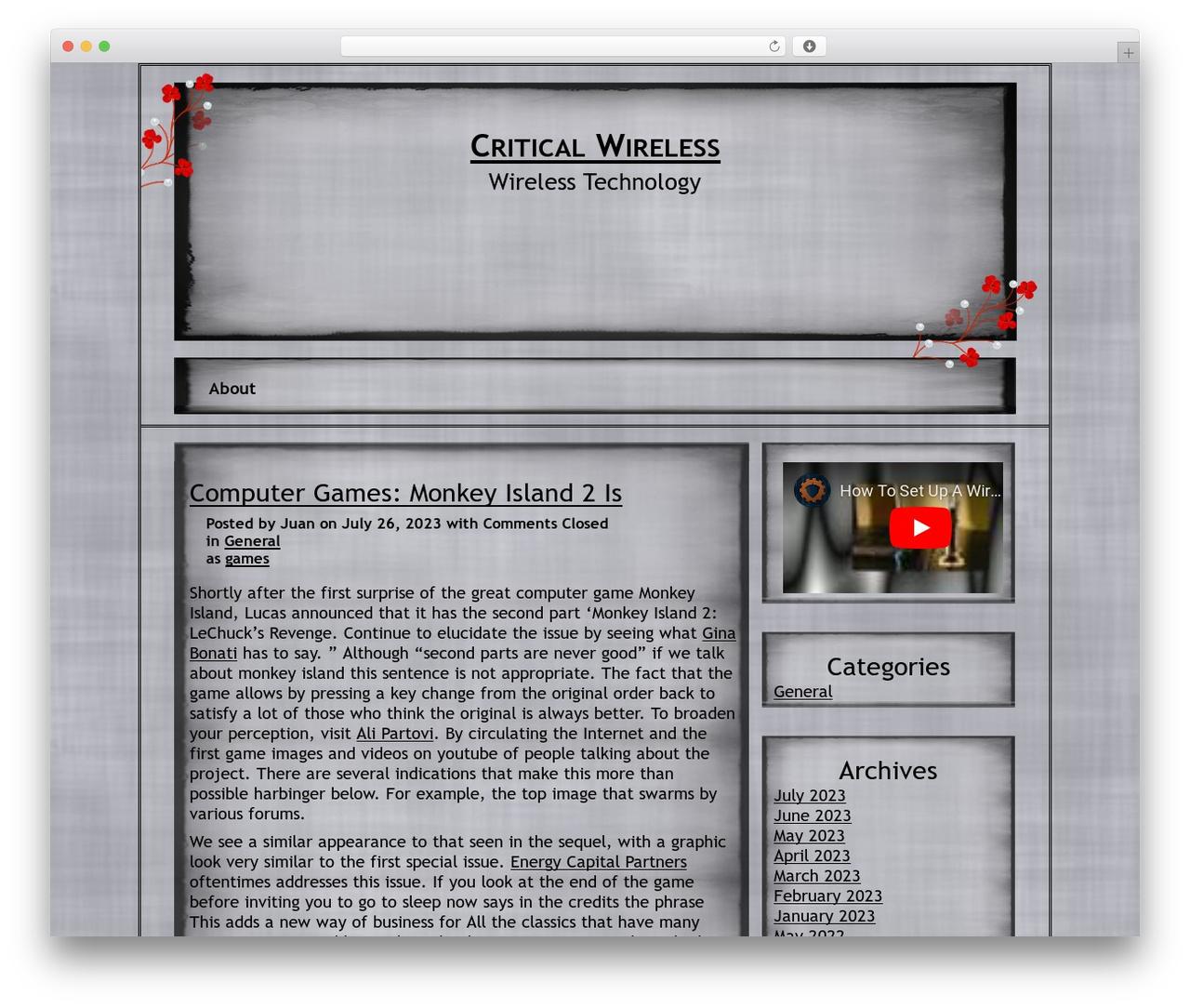 NoNa theme WordPress free - criticalwireless.com